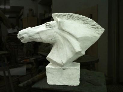 Horse 50X40X21 cm plaster 2011