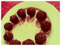 Rum-chocolate orbs.