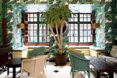 Beverly Hills Hotel Wallpaper - Restaurant Indochine - curbed.com