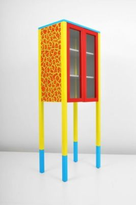 "Italy 1981 Memphis ""D'Antibes"" cabinet with 2 shelves by George J. Sowden - interieurites.com"