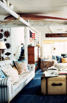 Rustic Americana in a seaside beach cottage from Ralph Lauren Home - ralphlaurenhome.com