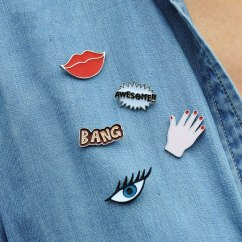 Cartoon badges & pins - pinterest.com