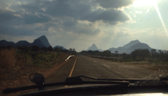 the EN8, the most beautiful paved road in Mozambique