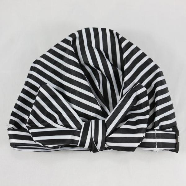 striped shower cap