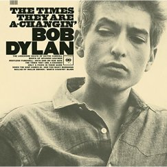 "Carátula de ""The times they are a-changing"" de Bob Dylan"