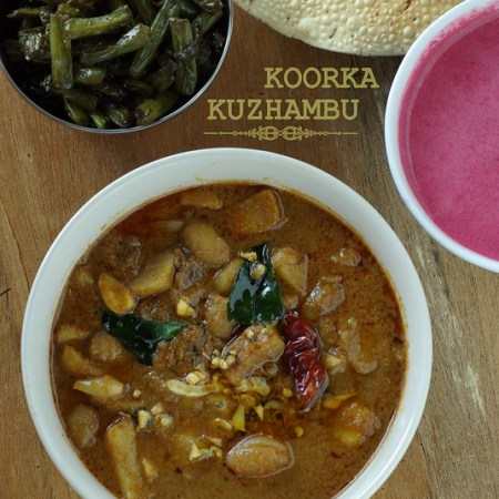Koorka kizhangu kuzhambu / Chinese potato curry