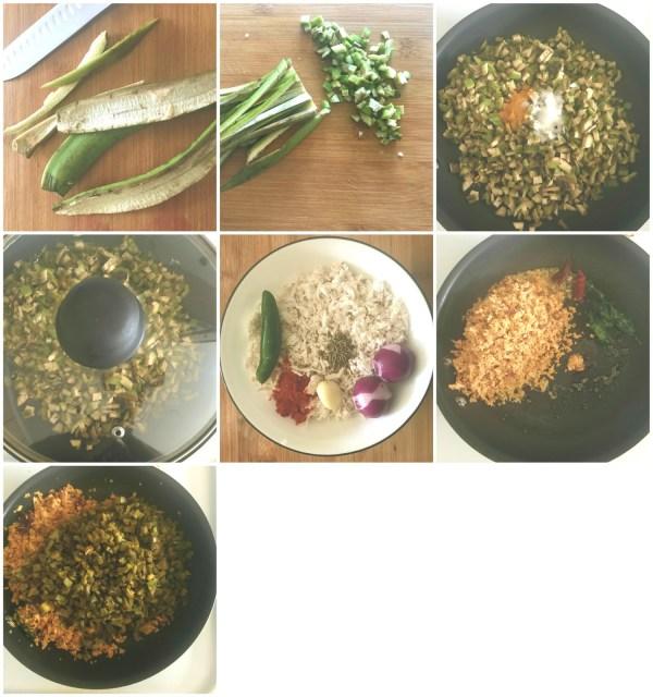 Ethakka tholi thoran / Kaya tholi thoran / Raw plantain peel stir-fry