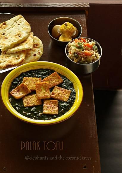 Thumbnail for Palak Tofu / Spinach Tofu Curry