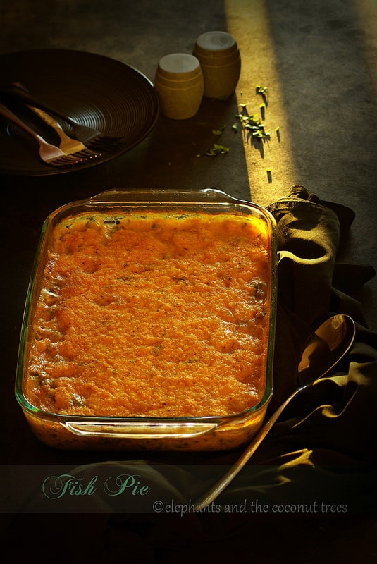 Fish Pie with Sweet Potato Topping