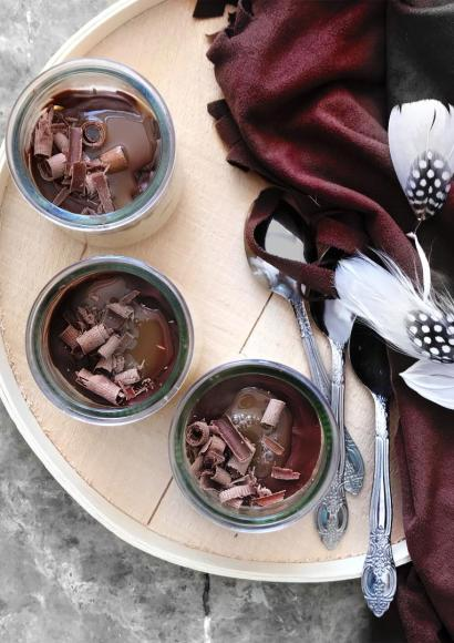 Thumbnail for Milk pudding with Chocolate topping (Eggless Recipe)