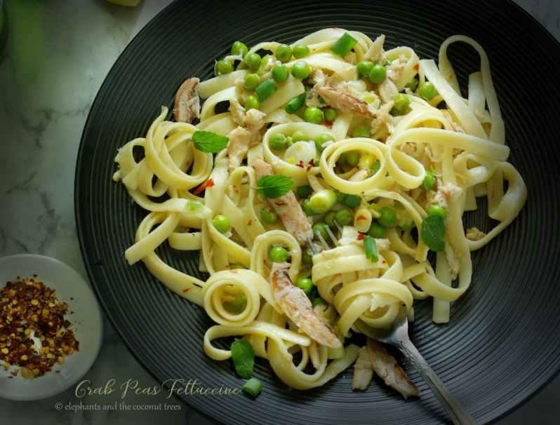 crab peas fettuccine 2