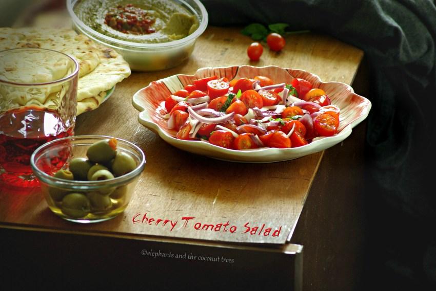 Cherry tomato salad a