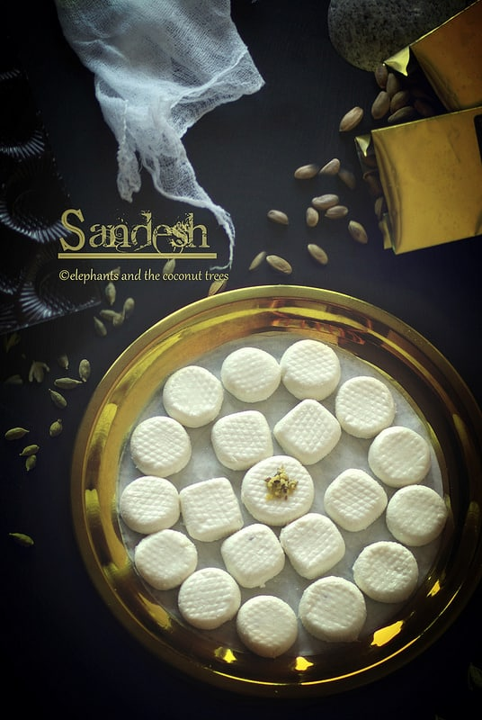 Indian cottage cheese sweet, sandesh, Bengali sweet,Indian sweets for all occasions