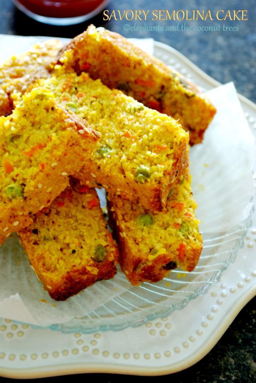 savory semolina cake,Baked goods