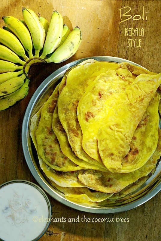 Boli Kerala Style / Puran poli / Kerala sadya recipe,Indian sweets for all occasions