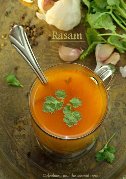 Thumbnail for Rasam / Sadhya special rasam / Low cal tomato soup with lentils/ Soup for sick
