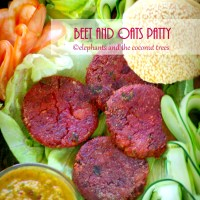 Beet and Oats Vegan Burger