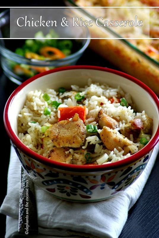 Chicken rice casserole