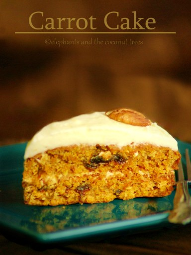 Carrot Cake with Coconut and Raisins
