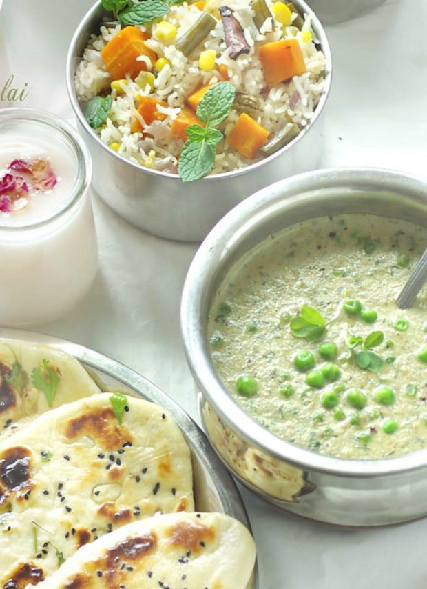 Fenugreek leaves curry, methi matar malai,Vegetable curry recipes