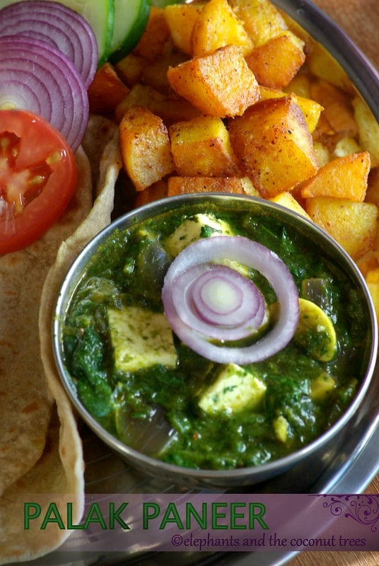 palak paneer, spinach and cottage cheese curry,Vegetable curry recipes