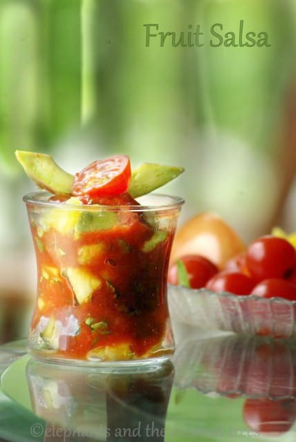 Fruit salsa ,Dips and pickles