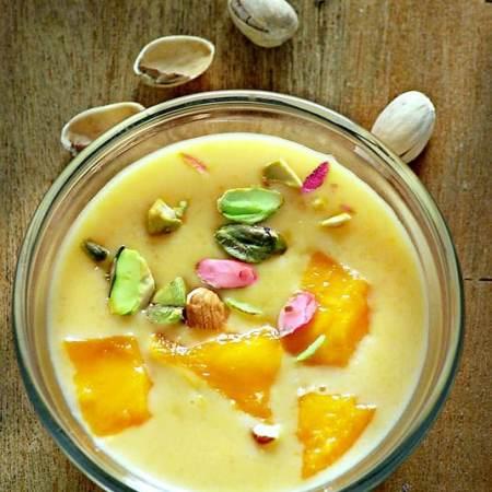 mango kheer, mango payees, Bengali dessert