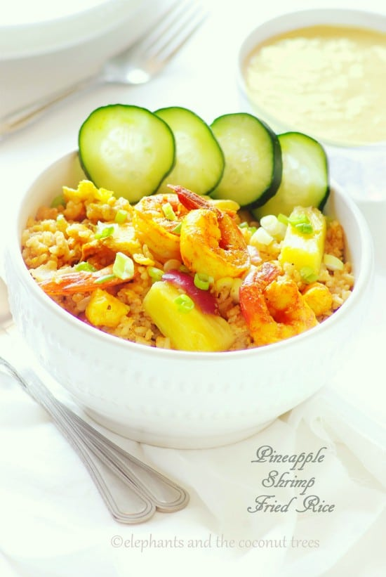 Pineapple and Shrimp Fried Rice