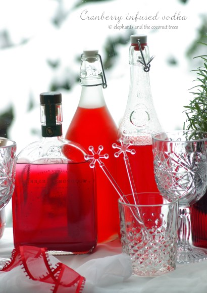 Thumbnail for Cranberry infused vodka | Christmas cocktail ideas