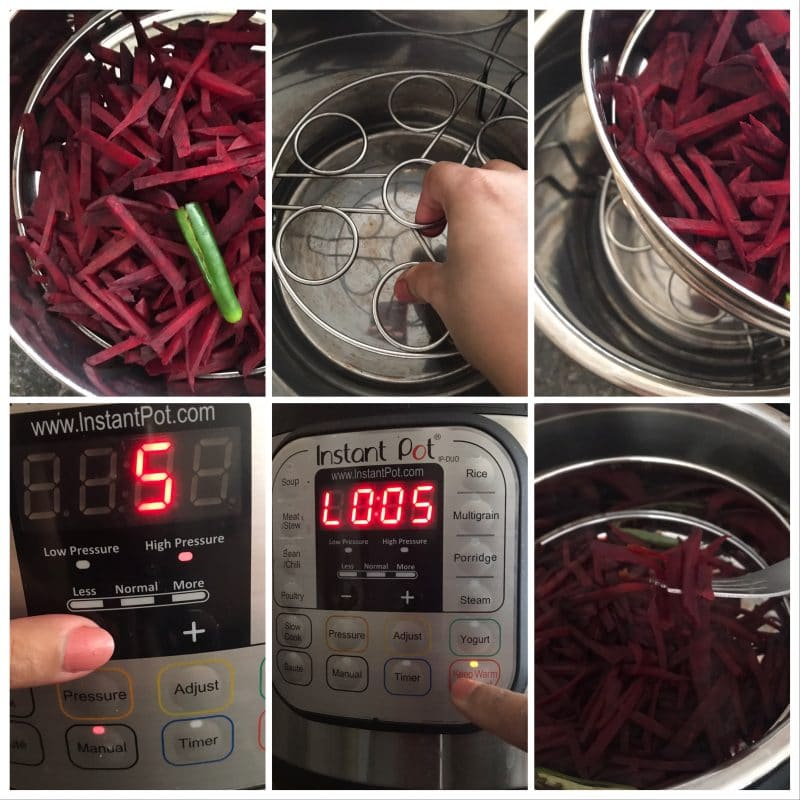 beetroot cooking in instant pot