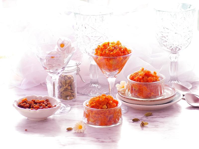 Indian carrot halwa dessert