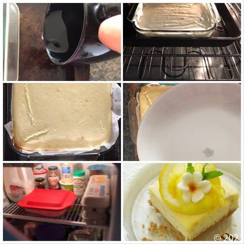 lemon cheesecake bars step 3