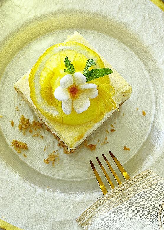 lemon and ricotta cheese cake bars