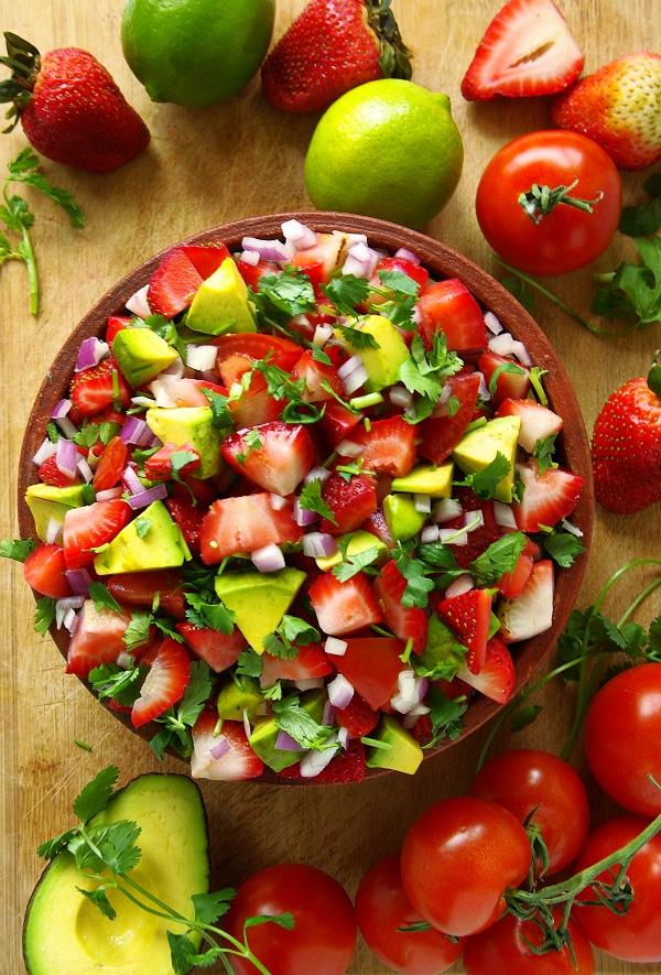 strawberry salsa side dish