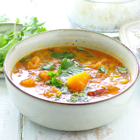 Easy Pumpkin and Lentil Curry (Mild)