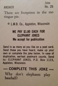 Elephant Jokes - Elephants Never