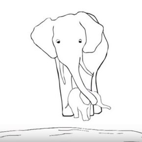 "Artist Hugo Guinness Creates Compelling Animated Video  ""I Will Always Remember You"" For DSWT to Help Save Elephants"