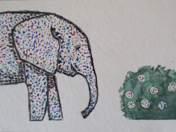 elephant art addison elephant and shrub bumble (1)