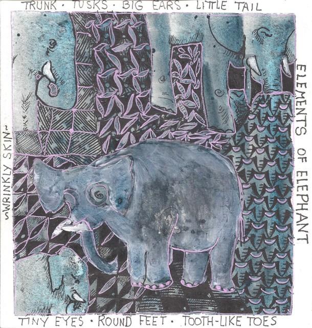 Ele drawing Sandra Strait Elements of elephant cc flickr