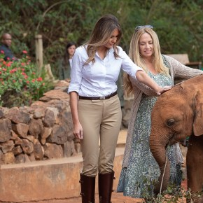 Video Moment: First Lady Melania Trump Visits Africa & Bottle-Feeds Baby Elephant Orphans at The David Sheldrick Wildlife Trust While Promoting Elephant Conservation