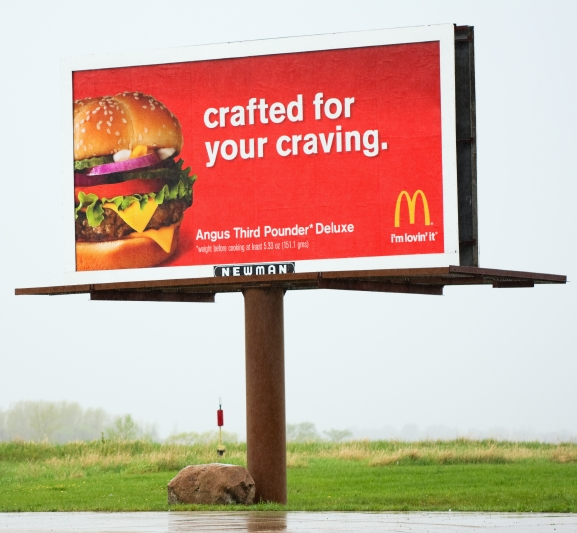 mcdonalds billboard fast food big