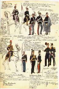 archivio uniformologia Italia Regno di Sardegna Piemonte