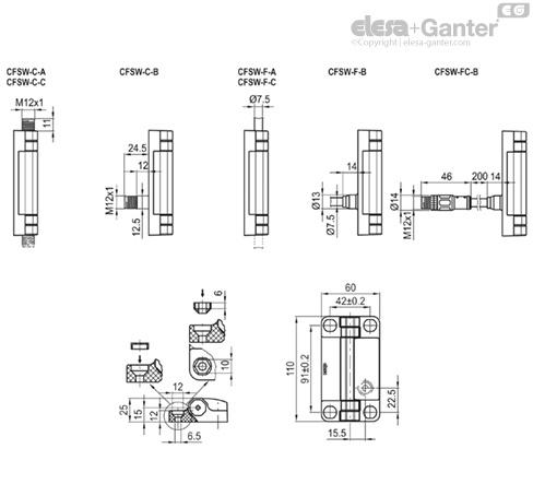 small resolution of charni res avec interrupteur multiple de s curit int gr