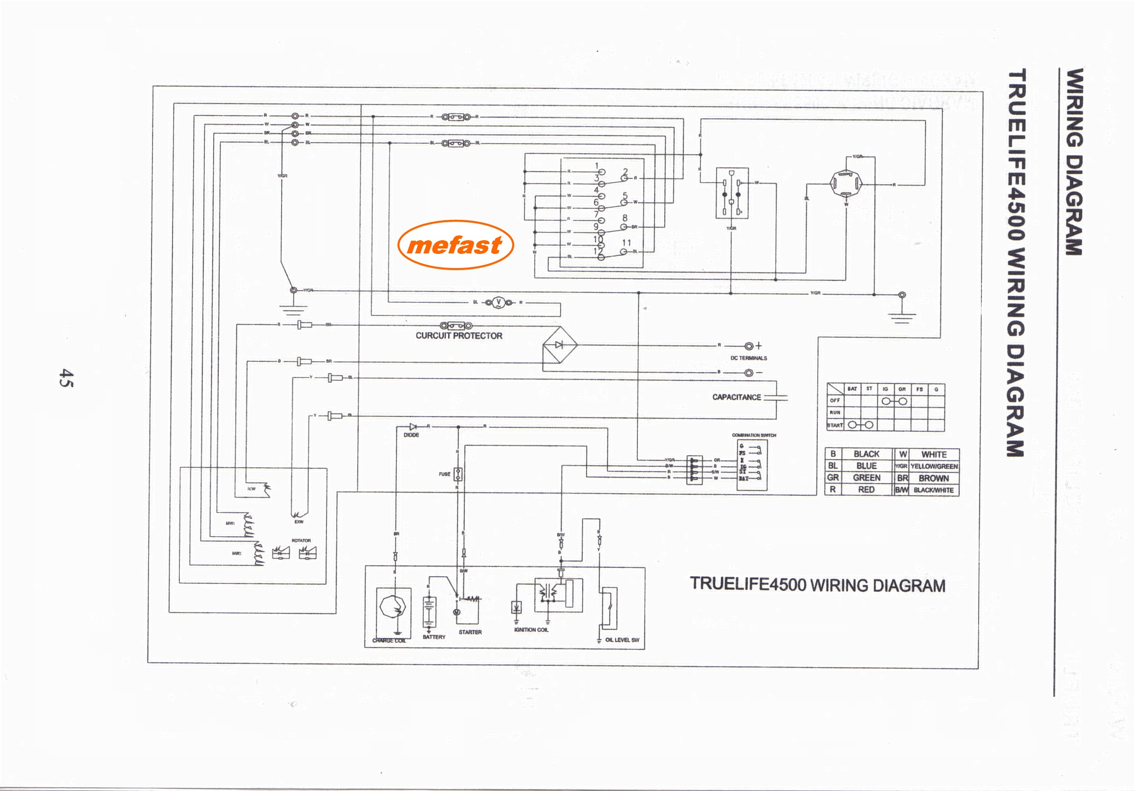 Truelife Generator Wire Diagram