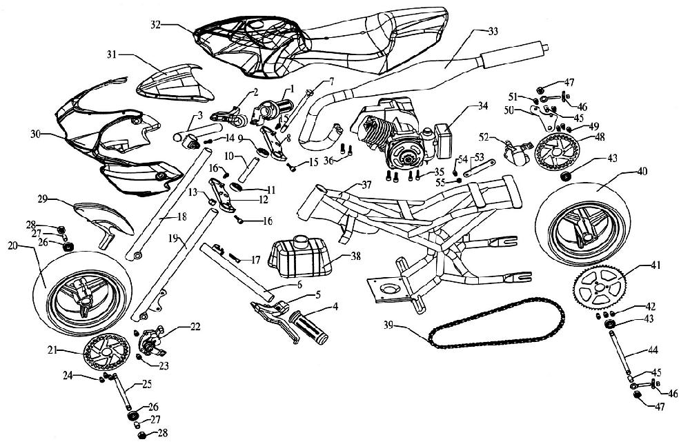 49cc Wiring Diagram Chinese Moped : 33 Wiring Diagram