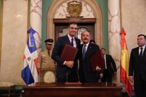 Presidente Danilo Medina se reúne con homólogo español, Pedro Sánchez