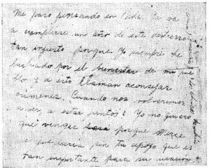 Última carta de Carmen Lyra
