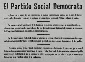 PSD Abolición Ejército