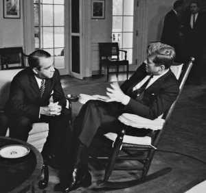 El Canciller Daniel Oduber Quirós con el presidente Kennedy de EE.UU.
