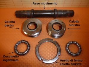 0528 Movimento centrale perno quadro a calotte aperto
